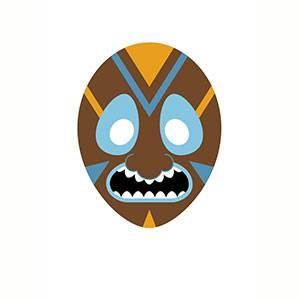Máscara de Africana para imprimir