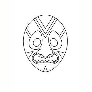 Máscara Africana para colorear