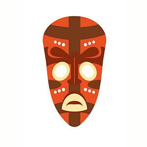 Máscara Africana para imprimir