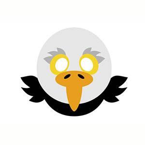 Máscara de Águila para imprimir