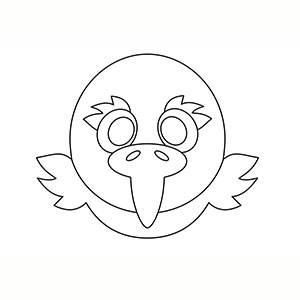 Máscara de Aguila para colorear