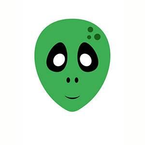Máscara de Alien para imprimir