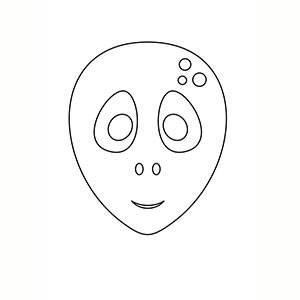 Máscara de Alien para colorear