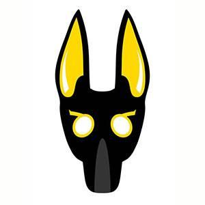 Máscara de Anubis para imprimir