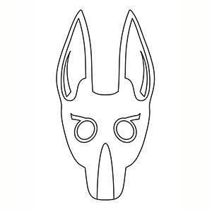 Máscara de Anubis para colorear