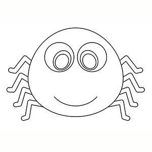 Máscara de Araña para colorear
