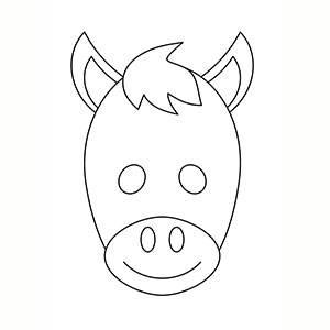 Máscara de Burro para colorear