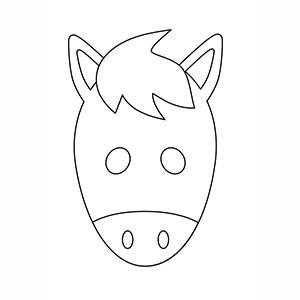 Máscara de Caballo para colorear