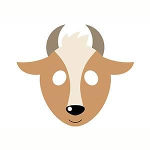 Máscara de Cabra para imprimir