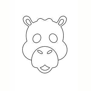 Máscara de Camello para colorear
