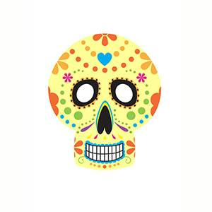 Máscara de Dia de los Muertos para imprimir