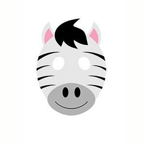 Máscara de Zebra para imprimir