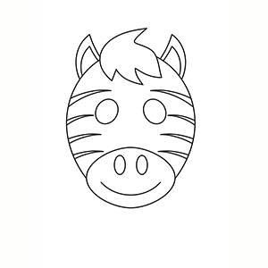 Máscara de Zebra para colorear