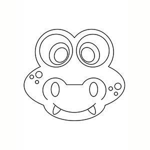 Máscara de Cocodrilo para colorear
