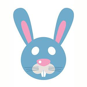 Máscara Conejo para imprimir