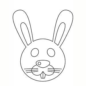 Máscara de Conejo para colorear
