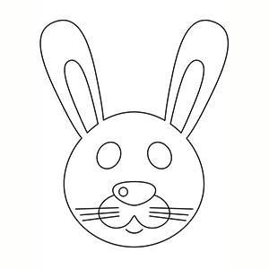Máscara Conejo para colorear