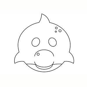Máscara de Delfin para colorear