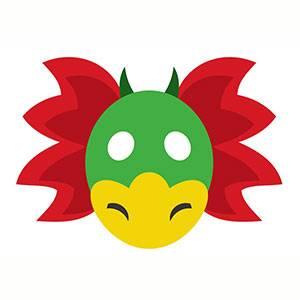 Máscara de Dragón para imprimir