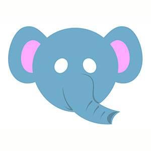 Máscara de Elefante para imprimir