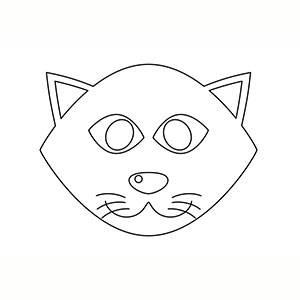 Máscara Gatito para colorear
