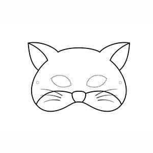 Máscara de Gato para colorear