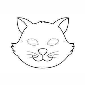 Máscara Gato para colorear