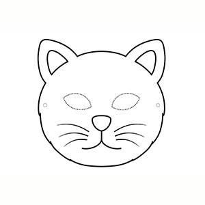 Máscara para colorear de Gato
