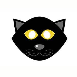 Máscara Gatito para imprimir