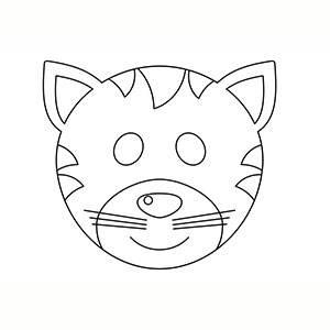Máscaras de Carnaval para Colorear 1
