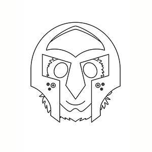 Máscara de Gladiador para colorear