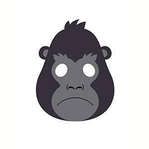 Máscara de Gorila para imprimir