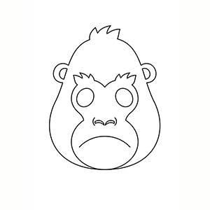 Máscara de Gorila para colorear