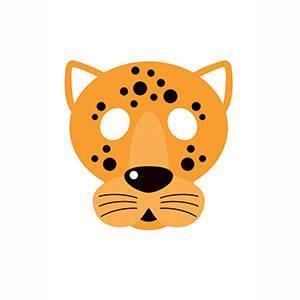 Máscara de Jaguar para imprimir