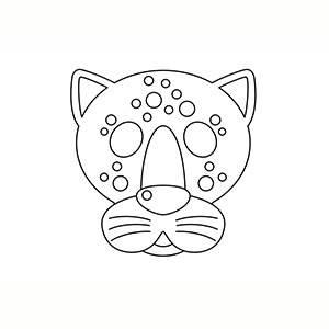 Máscara de Jaguar para colorear