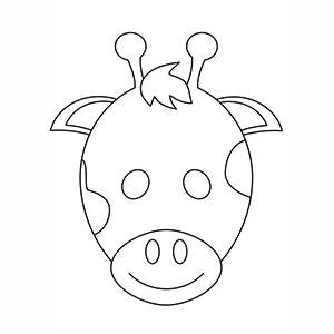 Máscara de Jirafa para colorear
