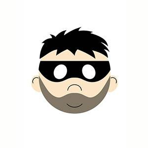 Máscara de Ladrón para imprimir