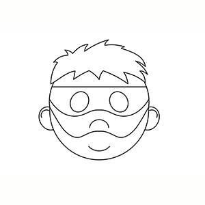Máscara de Ladron para colorear