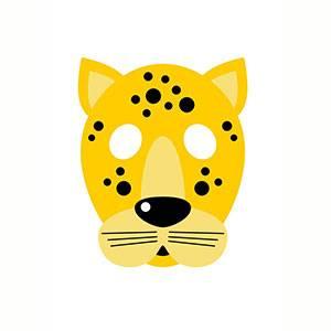 Máscara de Leopardo para imprimir