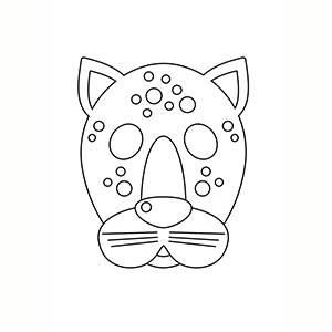 Máscara Leopardo para colorear
