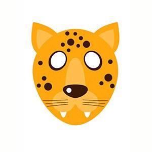 Máscara Leopardo para imprimir