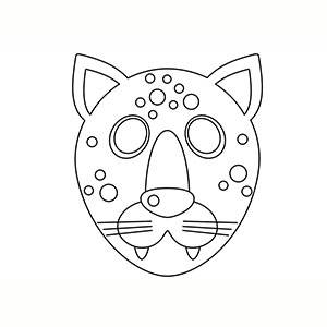 Máscara de Leopardo para colorear