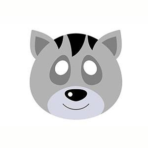 Máscara de Mapache para imprimir