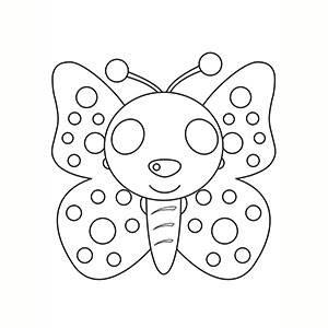 Máscara de Mariposa para colorear