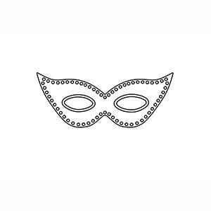 Máscara Antifaz para colorear