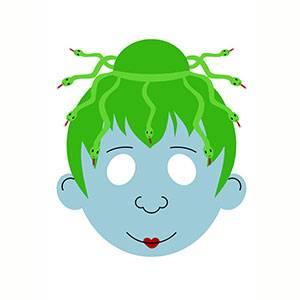 Máscara de Diosa Medusa para imprimir