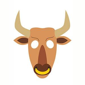 Máscara de Minotauro para imprimir