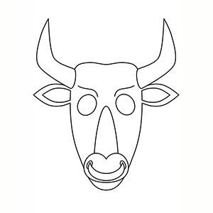 Máscara de Minotauro para colorear