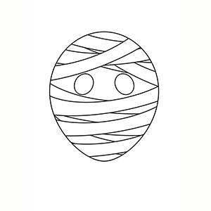 Máscara de Momia para colorear