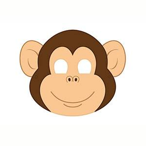 Máscara de Mono para imprimir